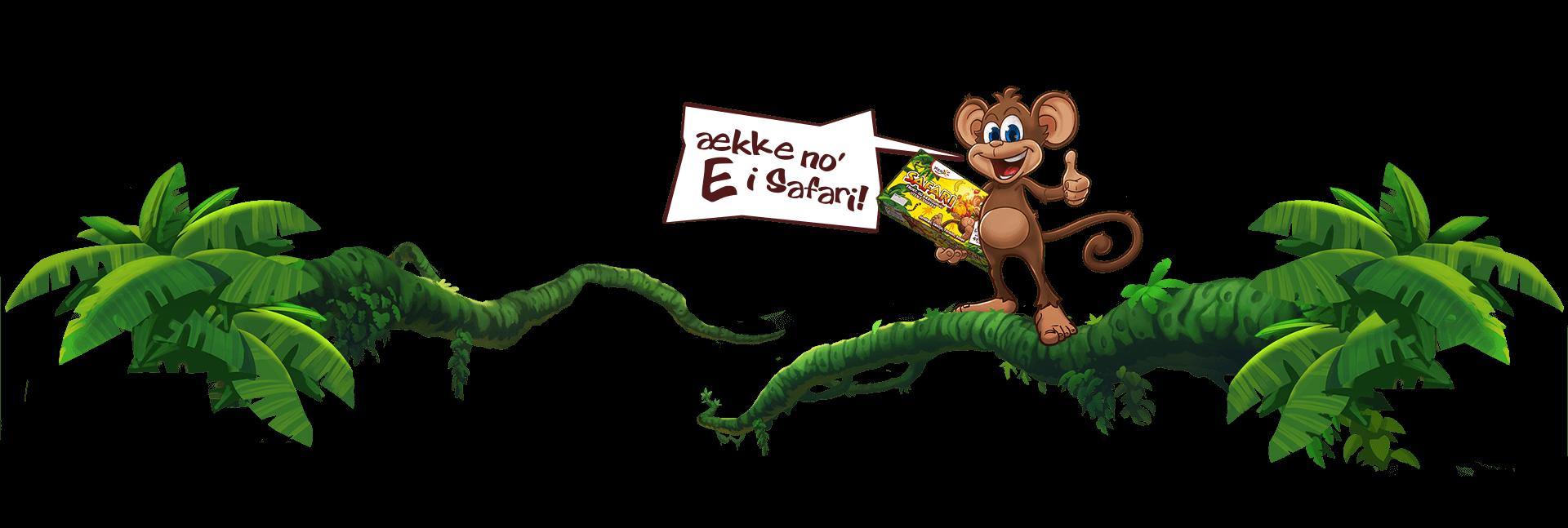 Ape sier det ække no' E i Safari!