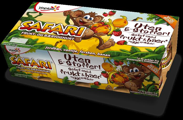 Safari yoghurt 8-pakning