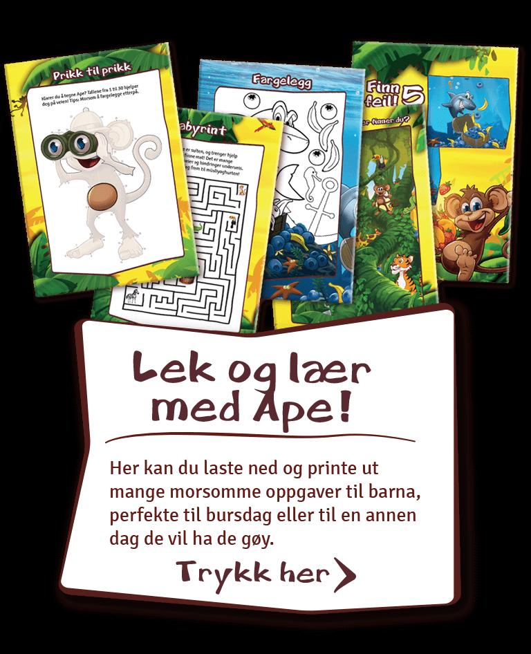 Lek og lær med ape!